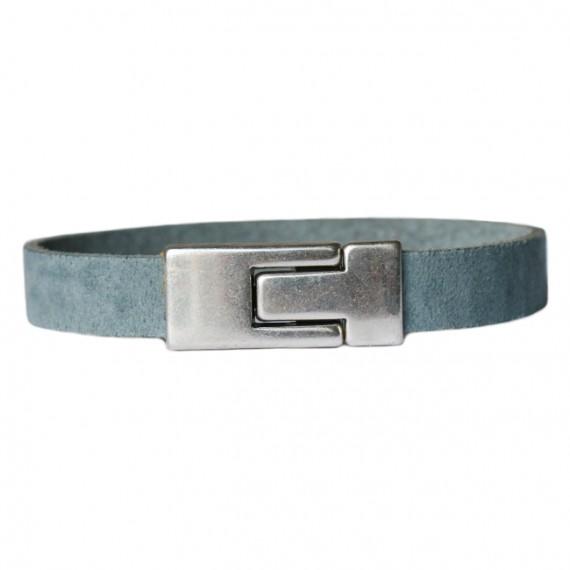 Armband Leder DARE! LA45, grijsblauw