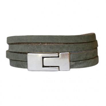Armband Leder DARE! LA46, groen