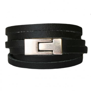 Armband Leder DARE! LA47, zwart