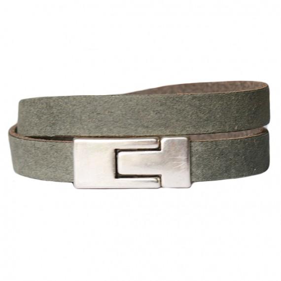 Armband Leder DARE! LA56, groen