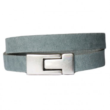 Armband Leder DARE! LA56, grijsblauw