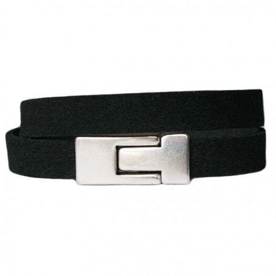 Armband Leder DARE! LA56, zwart