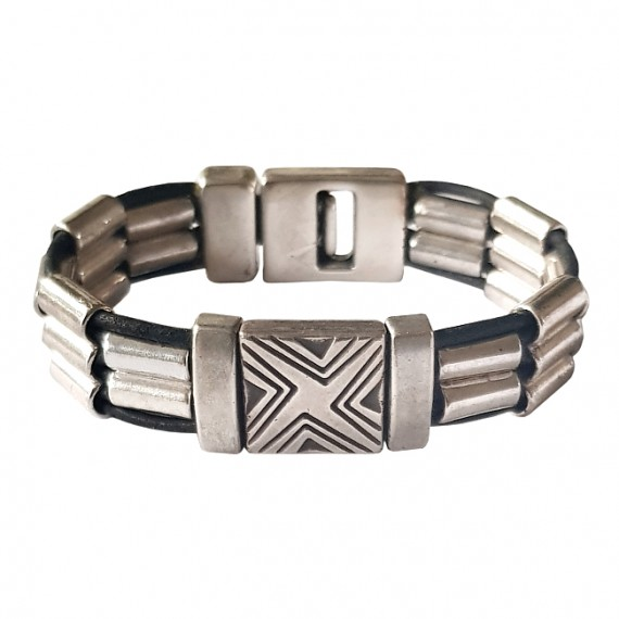 Armband DARE! Metal Square