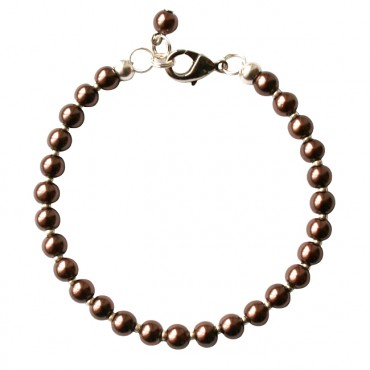 Armband Glasparel MixIt  A127, donkerbruin