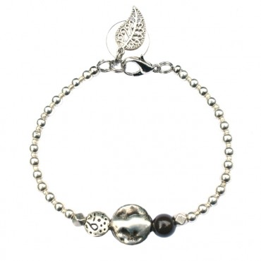 Armband Metaal MixIt A133, donkerbruin