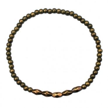 Armband metaal MixIt A135, brons