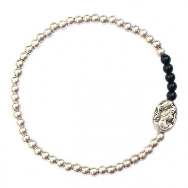 Armband silhouet MixIt A134, zwart