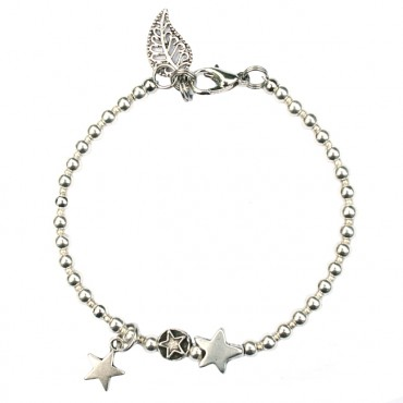 Armband metaal ster MixIt A132, zilver