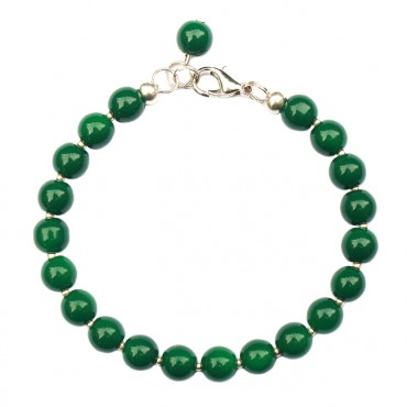 Armband Glas rond 8mm groen opal