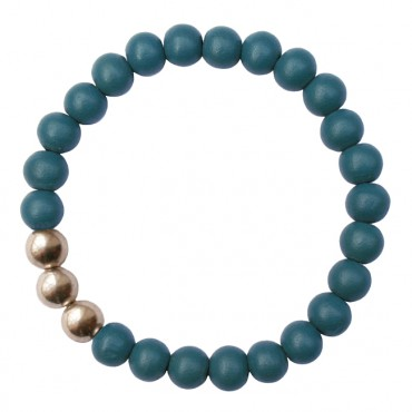 Armband Hout MixIt  A123, blauw