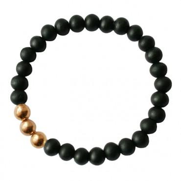Armband Hout MixIt  A123, zwart