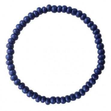 Armband basic glas 4mm donkerblauw