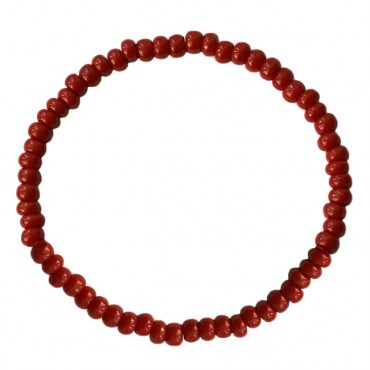 Armband Basic glas 4mm rood