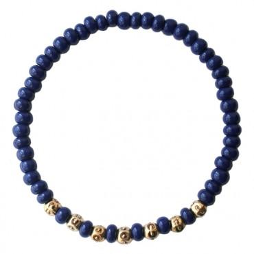 Mix & Match armband A52, donkerblauw