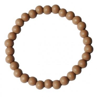 Armband basic hout beige