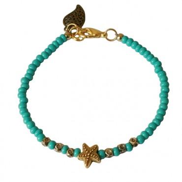 Armband Starfish turkoois