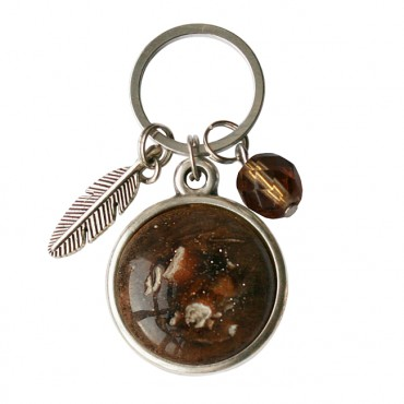 Hanger MixIt cabochon Stone bruin