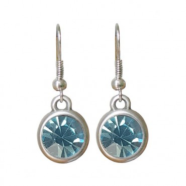 Oorbellen | basic kristal | aquamarine