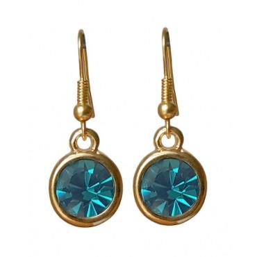 Oorbellen | basic kristal | blue zirkon