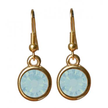 Oorbellen basic kristal pacific opal
