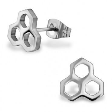 Oorknopjes | SELECT | RVS | Honingraat zilver