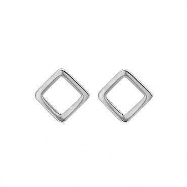Oorknopjes | SELECT | RVS | Square zilver