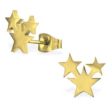 Oorknopjes | SELECT | RVS | Stars goud