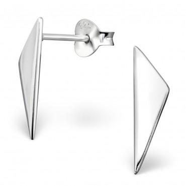 Oorknopjes 925 Zilver Triangle