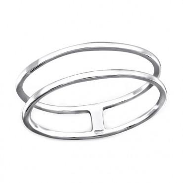 Ring 925 Sterling Zilver, dubbel
