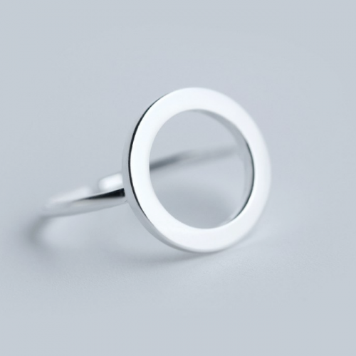Ring 925 Sterling Zilver Cirkel