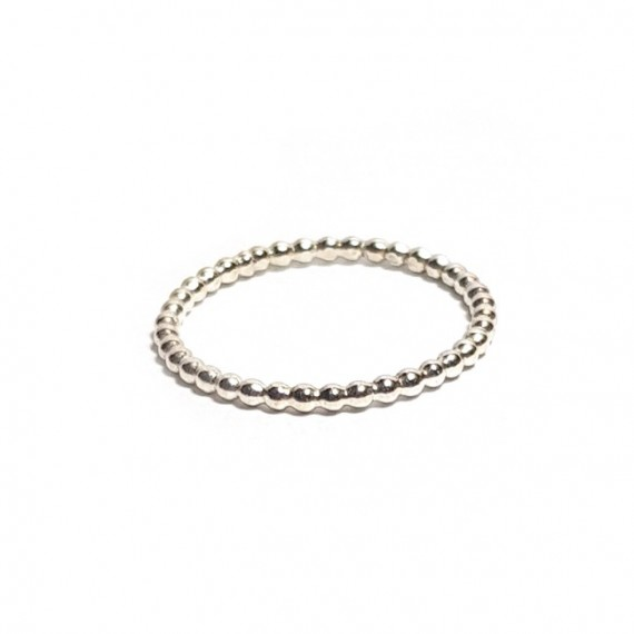 Ring | PUUR | 925 Zilver | pareldraad Small