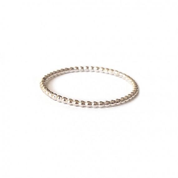 Ring | PUUR | 925 Zilver | Pareldraad XS
