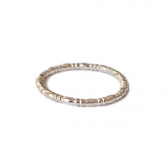Ring | PUUR | 925 zilver | Eierdraad Small