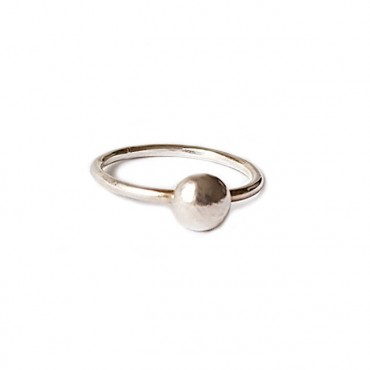 Ring | PUUR | 925 zilver | Ball Large