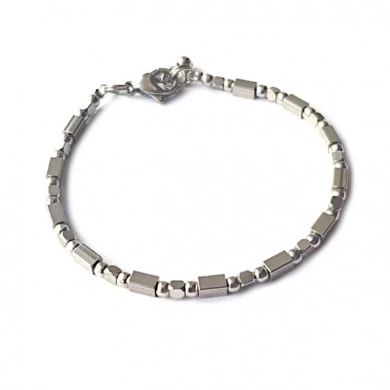 Armband RVS Mixed Beads