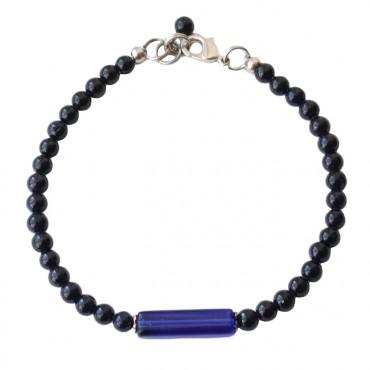 Armband Jade Tube, indigo