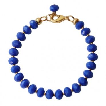 Armband MixIt facetglas, koningsblauw